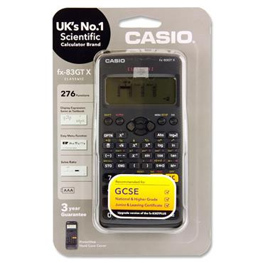 Casio Fx-83gtx Scientific 276 Functions Calculator - Black