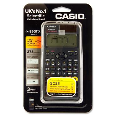Casio Fx-85gtx Scientific 276 Functions Dual Power Calculator - Black