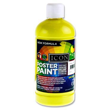 Icon Poster Paint 500ml - Lemon Yellow
