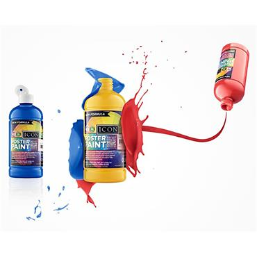 Icon Poster Paint 500ml - Scarlet