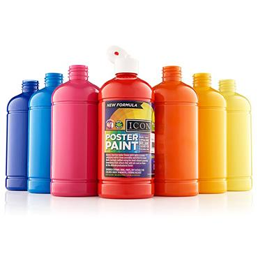 Icon Poster Paint 500ml - Cyan