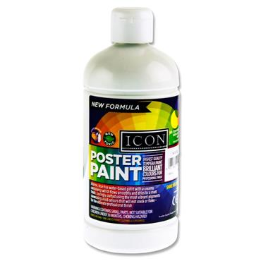 Icon Poster Paint 500ml - White