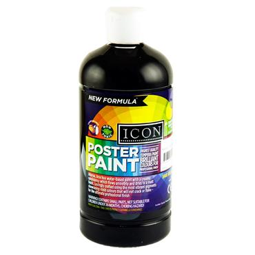 Icon Poster Paint 500ml - Black