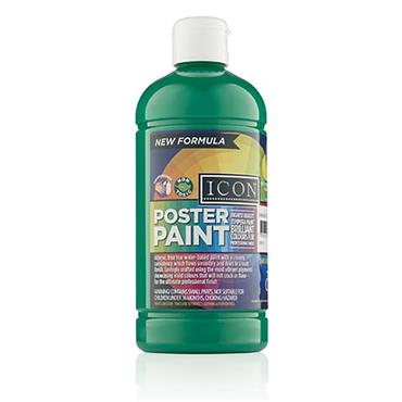 Icon Poster Paint 500ml - Emerald Green