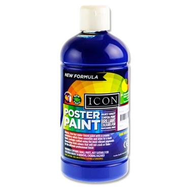 Icon Poster Paint 500ml - Ultramarine Blue