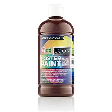Icon Poster Paint 500ml - Burnt Umber