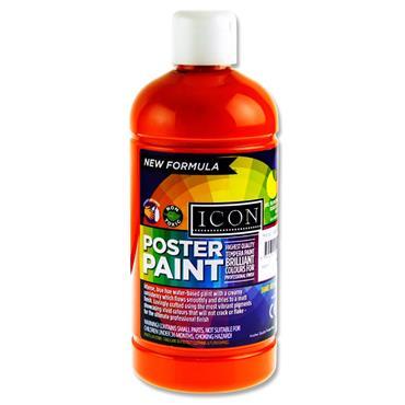 Icon Poster Paint 500ml - Orange