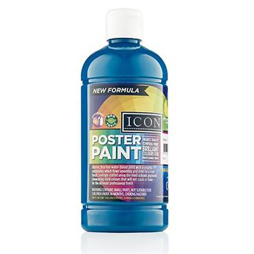 Icon Poster Paint 500ml - Turquoise