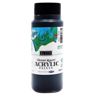 ICON ACRYLIC PAINT 500ml - BLACK
