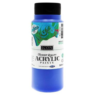 ICON ACRYLIC PAINT 500ml - BLUE