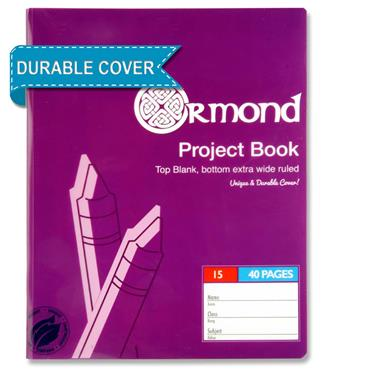 Ormond 40pg No.15 Durable Cover Project Book