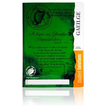 Student Solutions A4 120pg Durable Cover Manuscript Book - Irish