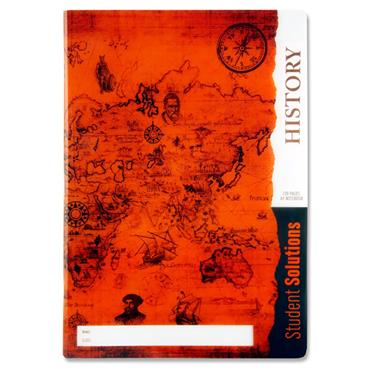 Student Solutions A4 120pg Durable Cover Manuscript Book - History
