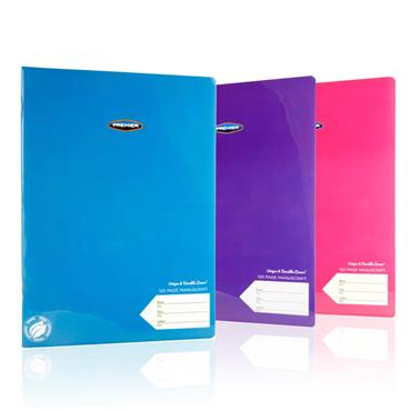 Premier Pkt.3 A4 120pg Durable Cover Manuscript Book - Tang