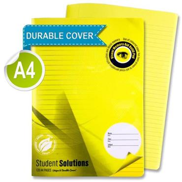 Premier A4 120pg Visual Aid Durable Cover Manuscript Book - Yellow