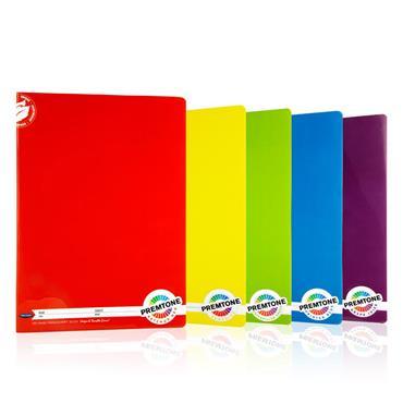 Premtone Pkt.5 A4 120pg Durable Cover Manuscript Book - 5 Asst.