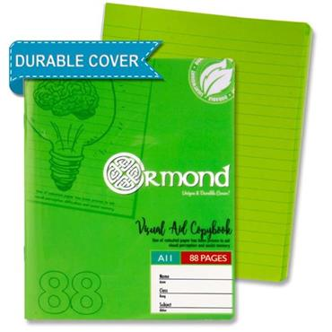 "Ormond 88pg A11 Visual Memory Aid Durable Cover Copy Book €"" Green"