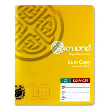 ORMOND 120pg C3 DURABLE COVER SUM COPY BOOK
