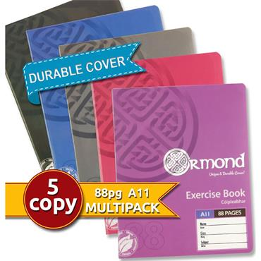 Ormond Pkt.5 A11 88pg Durable Cover Copy Book - Girls