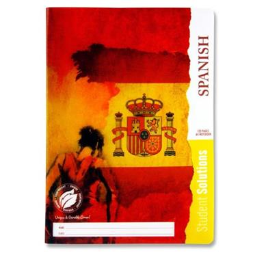 STUDENT SOLUTIONS A4 120pg DURABLE COVER MANUSCRIPT BOOK - SPANISH