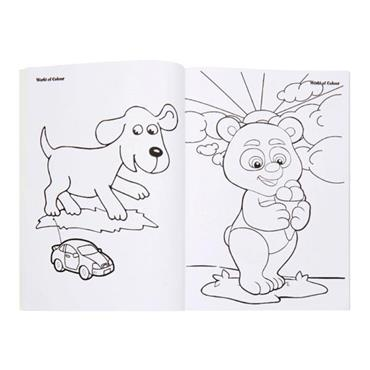 WOC A4 96pg PERFORATED COLOURING BOOK - LIVING THE LIFE !