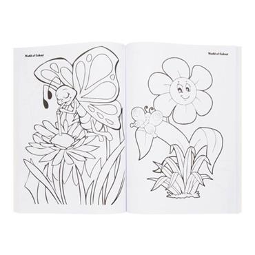 WOC A4 96pg PERFORATED COLOURING BOOK - BACK TO NATURE