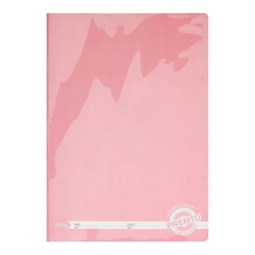 PREMTO A4 120pg MANUSCRIPT BOOK DURABLE COVER -  PINK SHERBET