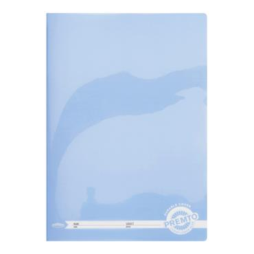 PREMTO A4 120pg MANUSCRIPT BOOK DURABLE COVER -  CORNFLOWER BLUE