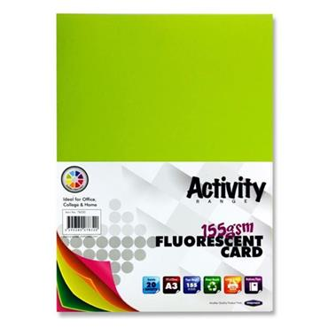 Premier Activity A3 155gsm Card 20 Sheets - Fluorescent