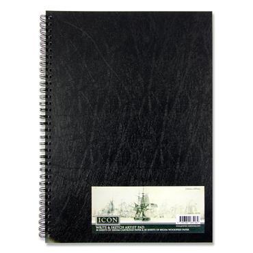 Icon A4 80gsm Wiro Write & Sketch Book - 60 Sheets