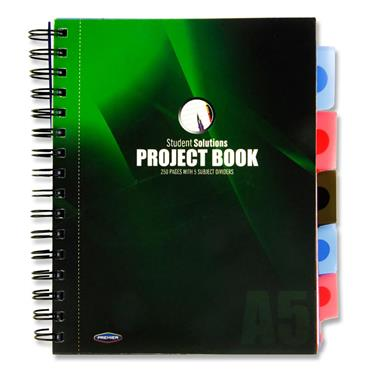 STUDENT SOLUTIONS A5 250pg PP 5 SUBJECT PROJECT BOOK 3 ASST
