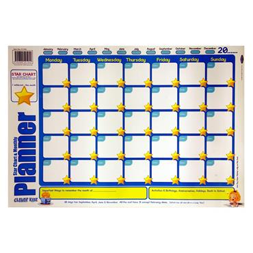 Clever Kidz Wall Chart - Monthly Planner