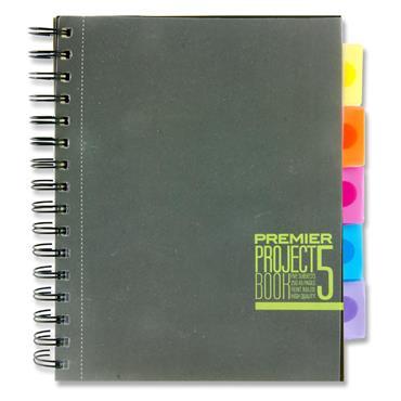 PREMIER A5 250pg PP 5 SUBJECT PROJECT BOOK - SPECTRE 3 ASST