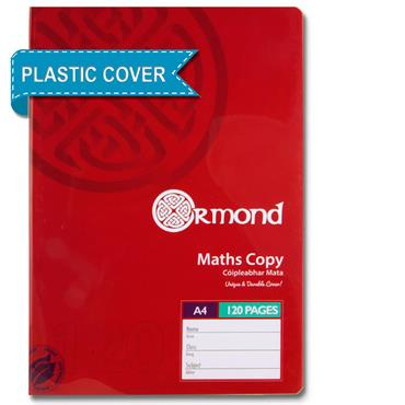 ORMOND A4 120pg DURABLE COVER MATHS COPY BOOK