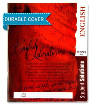Student Solutions 88pg A11 Durable Cover Copy Book - English