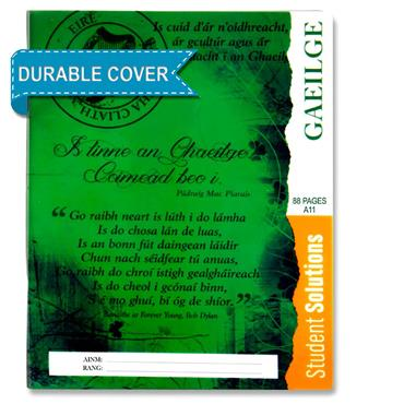 Student Solutions 88pg A11 Durable Cover Copy Book - Irish