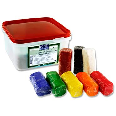 Icon Craft Tub Of 8x300g Soft Dough
