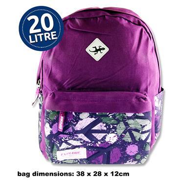 Explore 20ltr Backpack - Purple Peace Hoop