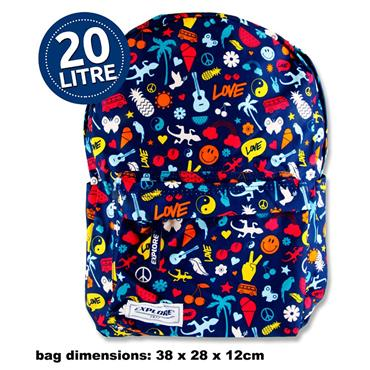 Explore 20ltr Backpack - Peace & Love