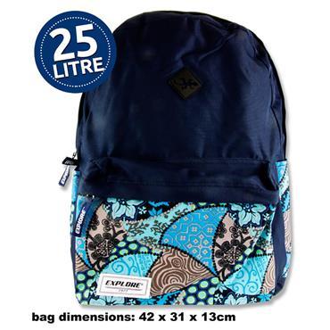 Explore 25ltr Backpack - Tropical Hoop