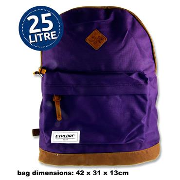 Explore 25ltr Backpack - Bac Pac Purple & Tan