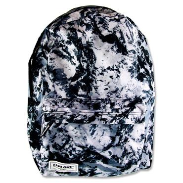 EXPLORE 25ltr BACKPACK - BLACK ABSTRACT FULL