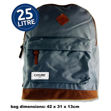 EXPLORE 25ltr BACKPACK - BAC PAC GREY & TAN