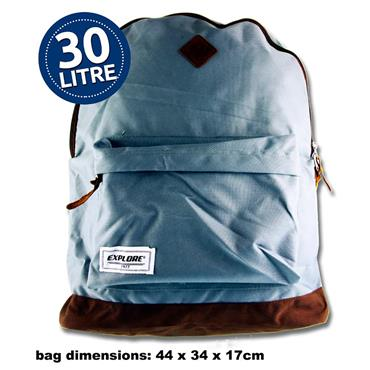 Explore 30ltr Backpack - Bac Pac Light Grey & Tan