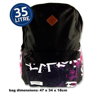 EXPLORE 35ltr BACKPACK - BLACK EXPLORE HOOP