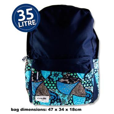 Explore 35ltr Backpack - Tropical Hoop