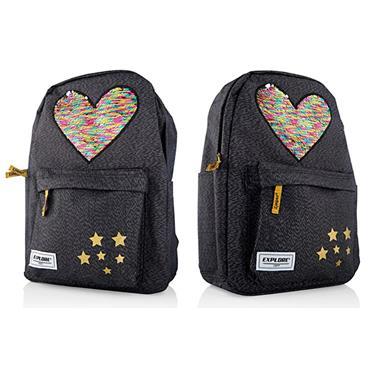 Explore 20ltr Backpack - Sequin Hearts