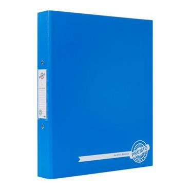 PREMTO A4 PP RING BINDER - PRINTER BLUE