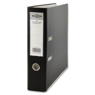 Premier A4 Lever Arch File - Solid Black