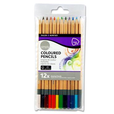 Daler Rowney Simply...pkt.12 Colour Sketch Pencils